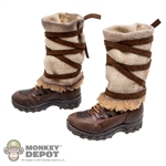 Boots: Hot Toys Female Climbing Boots w/Leg Warmers