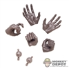 Hands: Hot Toys Drax Hand Set w/Wrist Pegs