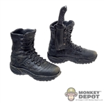 Boots: Hot Toys Molded Black Tactical Boots w/Knife & Sheath