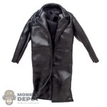 Coat: Hot Toys Black Leather Jacket