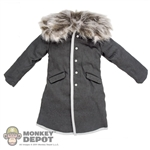 Coat: Inflames Grey Snow Jacket w/Fur Collar