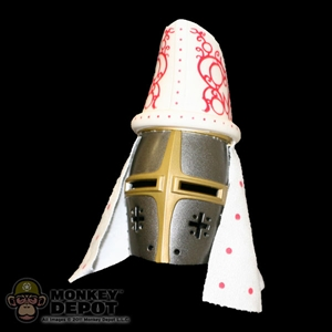 Helmet: Ignite Medieval Helm w/ Mitre (Metal,Plastic, and Cloth)