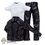Clothing Set: In House Black Biker Jacket Set (IH-022)