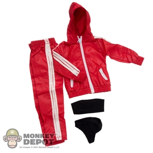 Clothing Set: In House Red Female Windbreaker Set (IH-024RD)