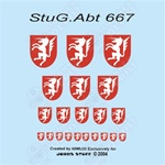 Decals: John's Stuff German StuG.Abt 667