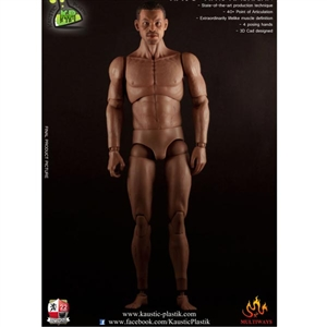 Figure: Kaustic Plastik 1/6 Athletik Male Body with Head Sculpt (African American) (KP03C)