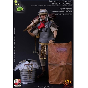 Boxed Figure: Kaustic Plastik Tiberius Claudius Maximus- Legionary with Marching Pack - Legio VII Claudia (KP0006)