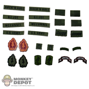Insignia: Sideshow GI Joe Rock N Roll Patch Set