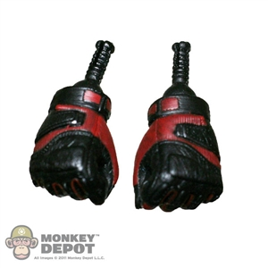 Hands: Sideshow Gloved Fists Red/Black