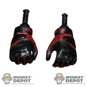 Hands: Sideshow Gloved Gripping Red/Black