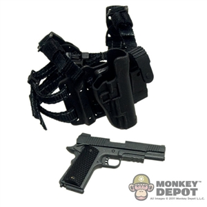 Pistol: Sideshow .45 1911 W/ Tactical Drop Leg Holster Black