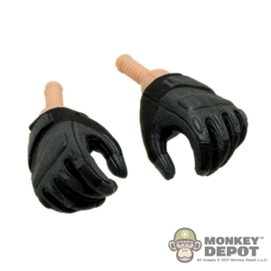 Hands: Sideshow Gloved Fists Grey/Black Gripping
