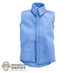 Shirt: Sideshow Blue Sleeveless Shirt