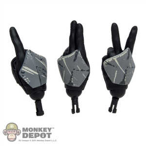 Hands: Sideshow Star Wars Clone Commander Signaling Set (3 Hands)