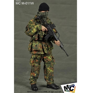 Uniform Set: Magic Cube KSK Germany's Special Forces Kommando Spezialkrafte Flecktarn Muster (MCM-011W)