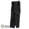 Pants: Magic Cube Black Leatherlike Pants
