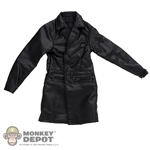Jacket: Magic Cube Black Leatherlike Trench Coat