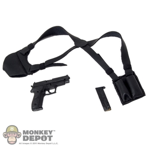 Holster: Magic Cube Black Leather Shoulder Holster w/Pistol