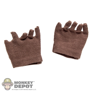Gloves: Magic Cube Fingerless Brown Gloves