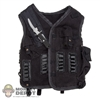 Vest: Magic Cube Black Suede Pigskin Vest w/Knife & Pouches