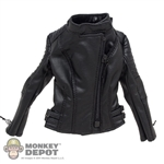 Coat: Magic Cube Female Black Leatherlike Jacket