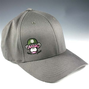 Monkey Depot Logo Flexfit Baseball Cap - Gray