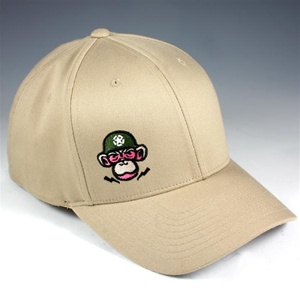 Monkey Depot Logo Flexfit Baseball Cap - Tan