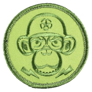 Monkey Depot Logo Patch Velcro Backed Green