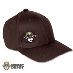 Monkey Depot Logo Flexfit Baseball Cap - Brown