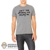 Monkey Depot Shirt: Mens Grey Can't Talk Zombie Shirt