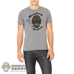Monkey Depot Shirt: Mens Grey Tanker Shirt