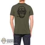 Monkey Depot Shirt: Mens Green Tanker Shirt