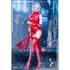 Outfit Set: ManModel MISS 2B's Lace Cheongsam Set in Red (MM-011C)