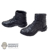 Boots: Mini Times Black Molded Tactical Boots