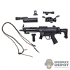 Rifle: Modeling Toys MP5A5 Sub Machine Gun w/Sight, Light, Grip & Sling