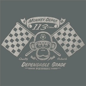 "Monkey Depot 2007 Shirt ""Hot Rod Monkey"" Grey 2XL"