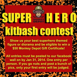 Monkey Depot Super Hero Kit Bash Contest