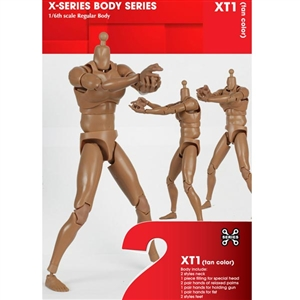 Boxed Figure: X Series Action Figure Male, Tan (XT01)