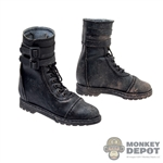 Boots: Mr. Toys Black Tactical Boots (Weathering)