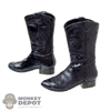 Boots: MomToys Black Molded Cowboy Boots
