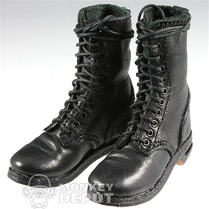 Boots: Newline Miniatures German WWII Fallschirmjager Front Lacing Black