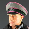 Hat Newline Miniatures German WWII Crusher Heer Panzer Dark Pink Piping