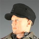 Hat Newline Miniatures German WWII M43 SS Black No Insignia