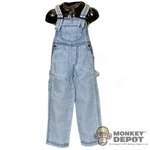 Pants: Newline Miniatures Denim Overalls - Faded