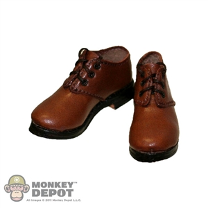 Boots: Newline Miniatures Dress Type Brown Leather