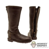 Boots: Newline Miniatures Brown Biker Boots