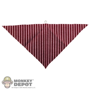 Scarf: Newline Miniatures Bandana w/ Metal Ring (Red Striped)