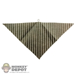 Scarf: Newline Miniatures Bandana w/ Metal Ring (Tan Striped)