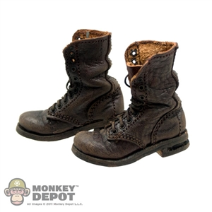 Boots: Newline Miniatures German WWII Fallschirmjager Weathered Brown