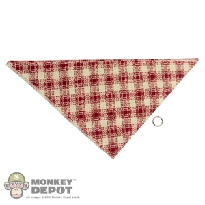 Scarf: Newline Miniatures Bandana w/ Metal Ring (Red/Tan)
